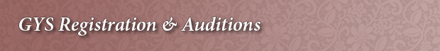 Gwinnett Young Singers GYS  Registration and Auditions